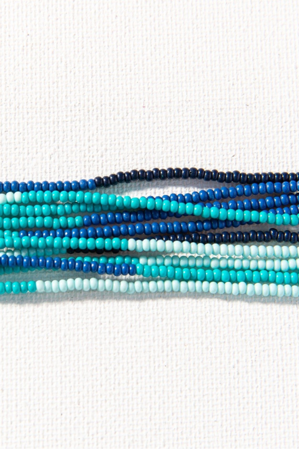 Ink + Alloy Seed Bead Mask Necklace - Front Full Image