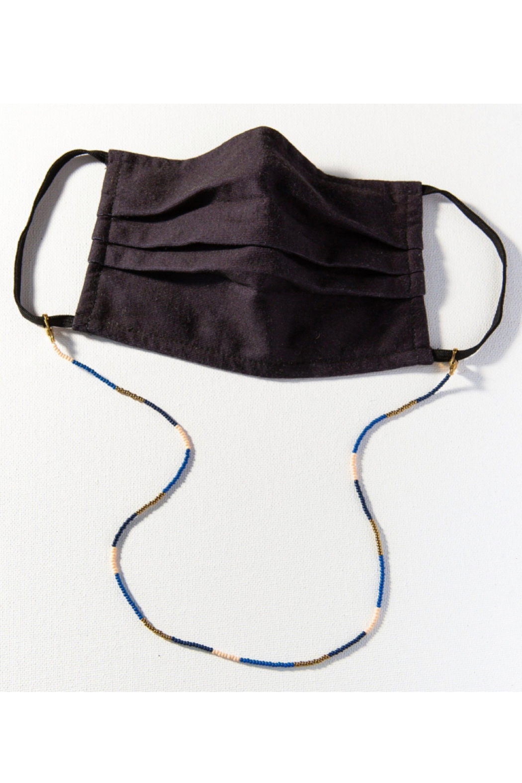 Ink + Alloy Seed Bead Mask Necklace - Front Cropped Image