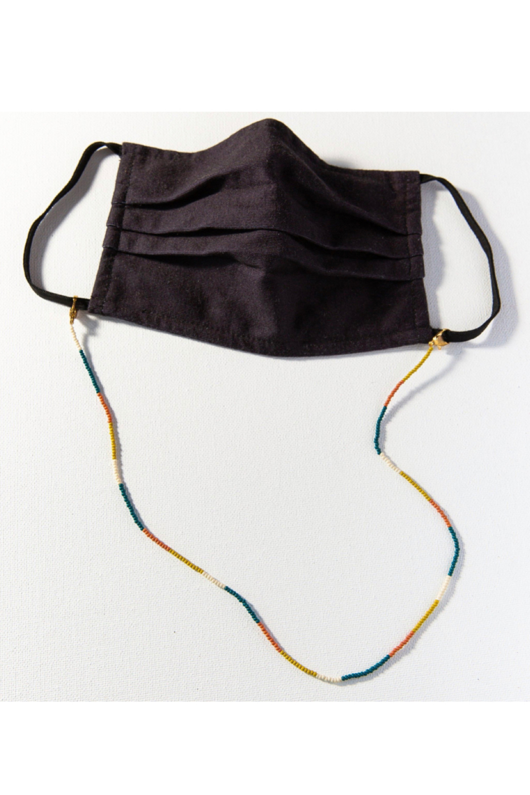 Ink + Alloy Seed Bead Mask Necklace - Main Image