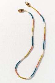 Ink + Alloy Seed Bead Mask Necklace - Side cropped