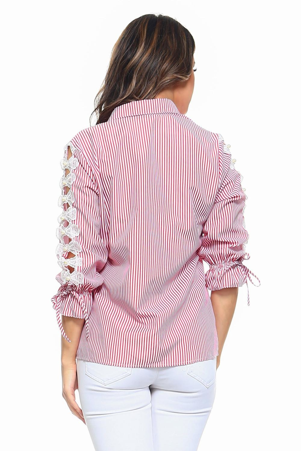 Passport Stripe Shirt - Back Cropped Image