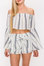 Favlux Stripe Short Set - Product Mini Image