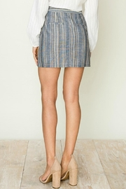ALB Anchorage Stripe Side-Button Mini-Skirt - Front full body