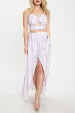 Shoptiques Product: Stripe Skirt Set