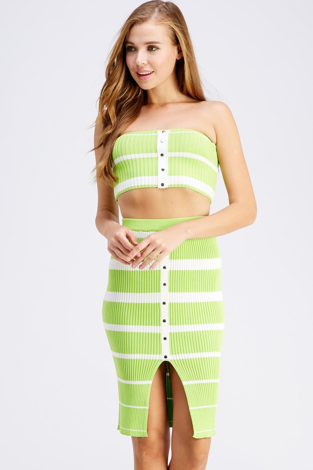 Hot & Delicious Stripe Skirt Set - Main Image