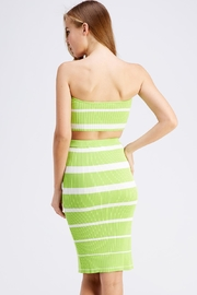 Hot & Delicious Stripe Skirt Set - Side cropped