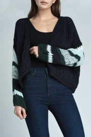 Press Stripe Sleeve Cardigan - Product Mini Image
