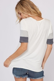 Fantastic Fawn Stripe Sleeve Tee - Product Mini Image