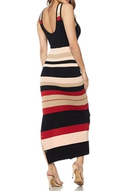 hot and delicious Stripe Snap Dress - Side cropped