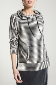 z supply Stripe Soft Spun Knit Hoodie - Product Mini Image