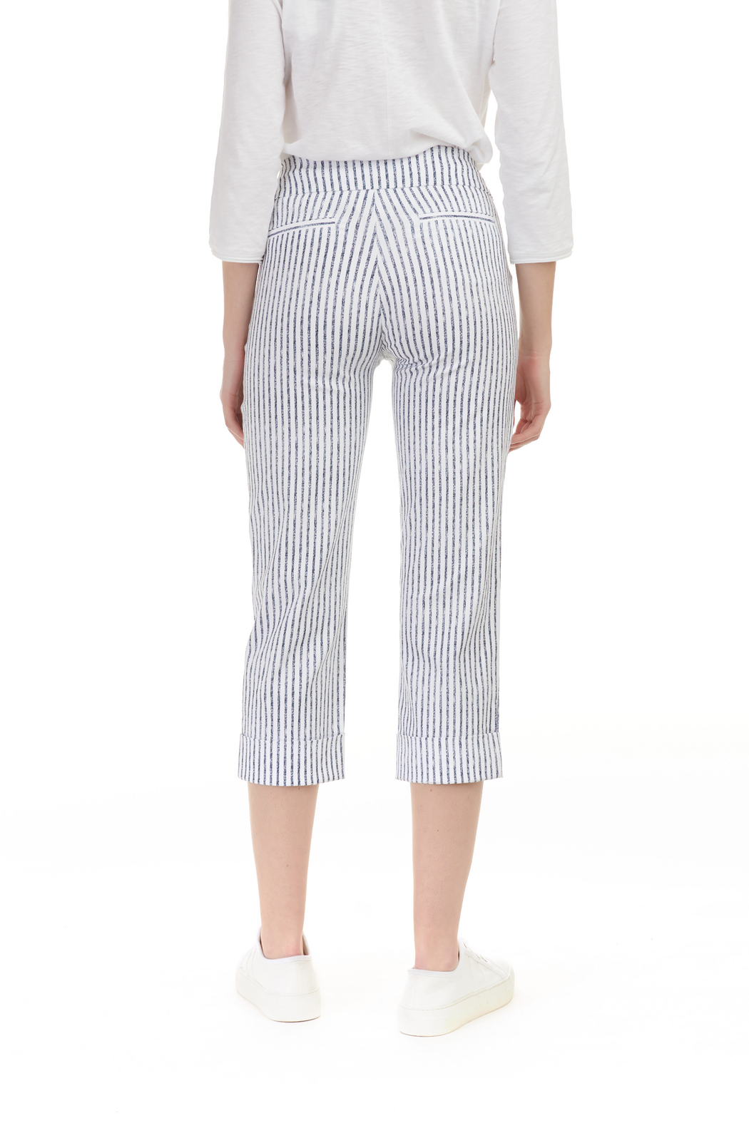 Charlie B Stripe Stretch Pant - Front Full Image