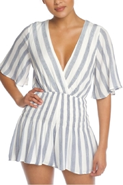 luxxel Stripe String Romper - Front cropped