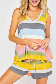 Bluivy Stripe Super Soft Tank - Product Mini Image