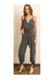 dress forum Stripe Surplice Jumpsuit - Product Mini Image