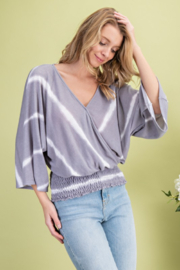 143 Story Stripe Surplice Kimono Top - Product Mini Image