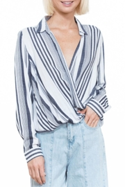 En Creme Stripe Surplus Blouse - Product Mini Image