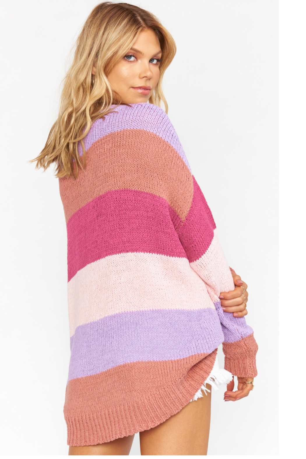 Show Me Your Mumu Stripe sweater - Side Cropped Image