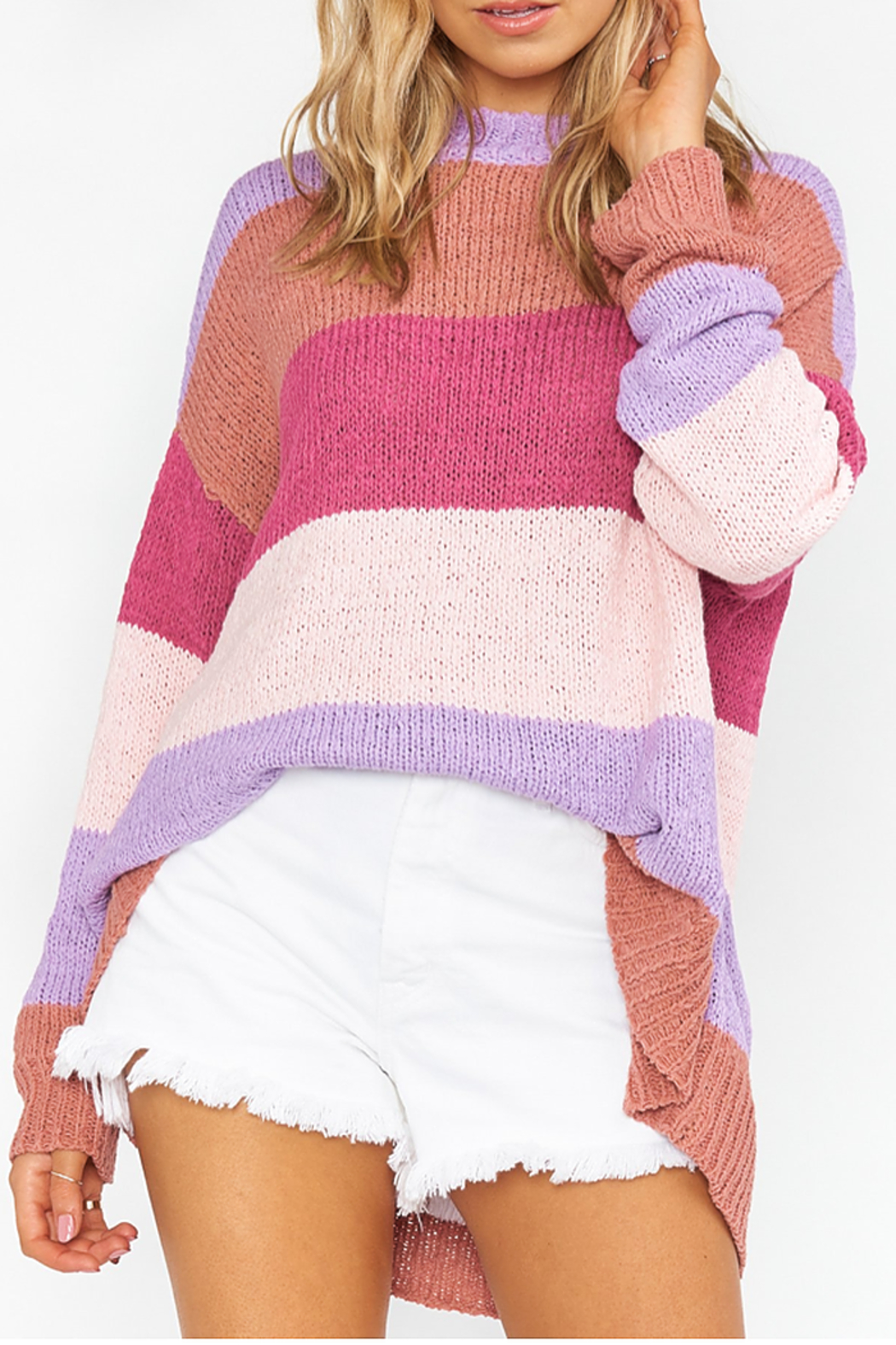 Show Me Your Mumu Stripe sweater - Front Full Image
