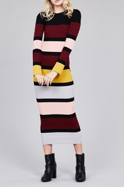 Active Basic Stripe Sweater Dress - Product Mini Image