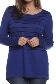 August Silk  Stripe sweater with back detail - Product Mini Image