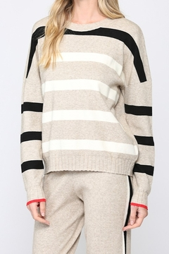 Fate Stripe Sweater with Star/Heart on Elbow - Product List Image