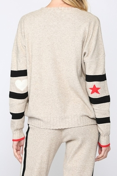 Fate Stripe Sweater with Star/Heart on Elbow - Alternate List Image