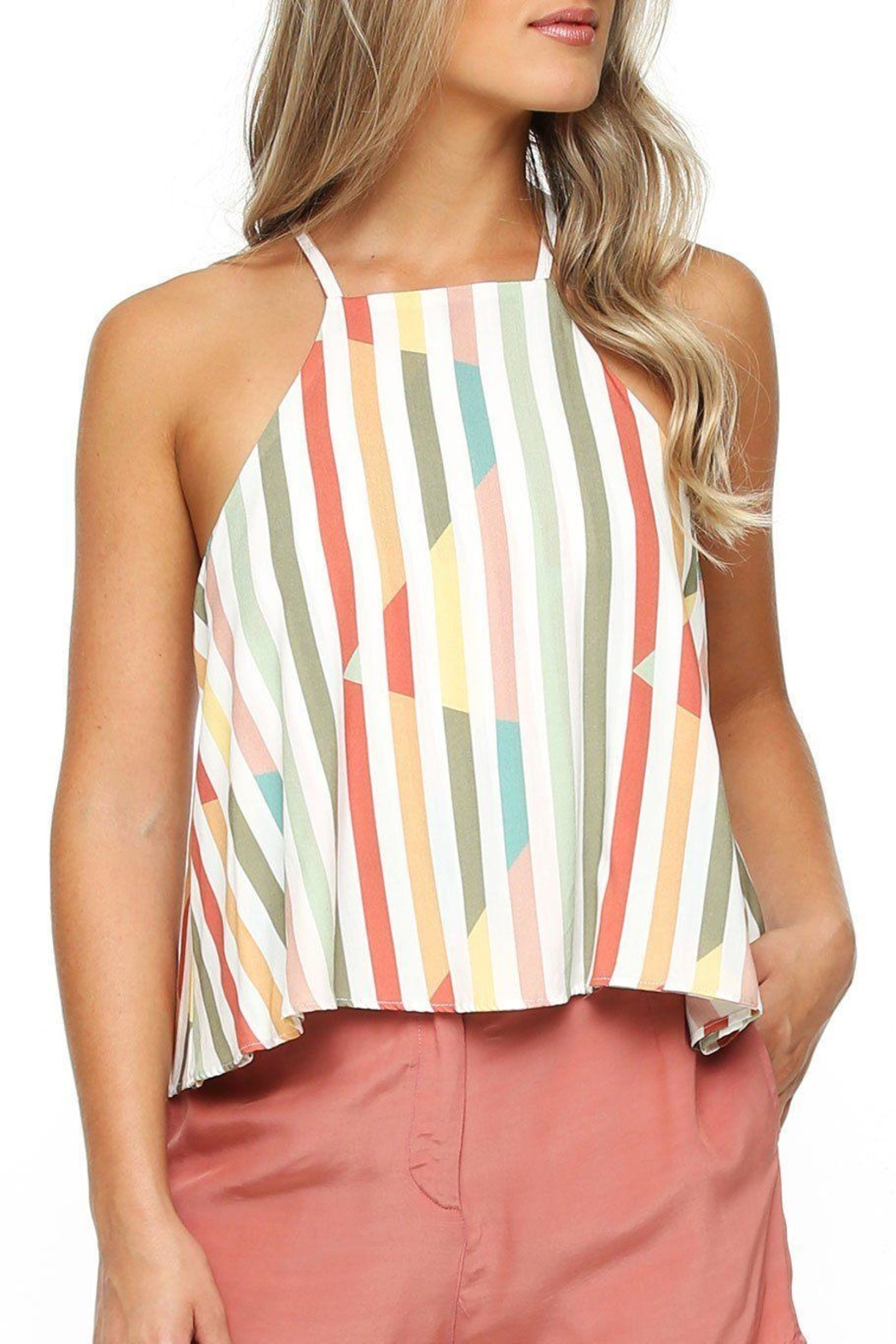 Shoreline Stripe Swing Top - Front Cropped Image