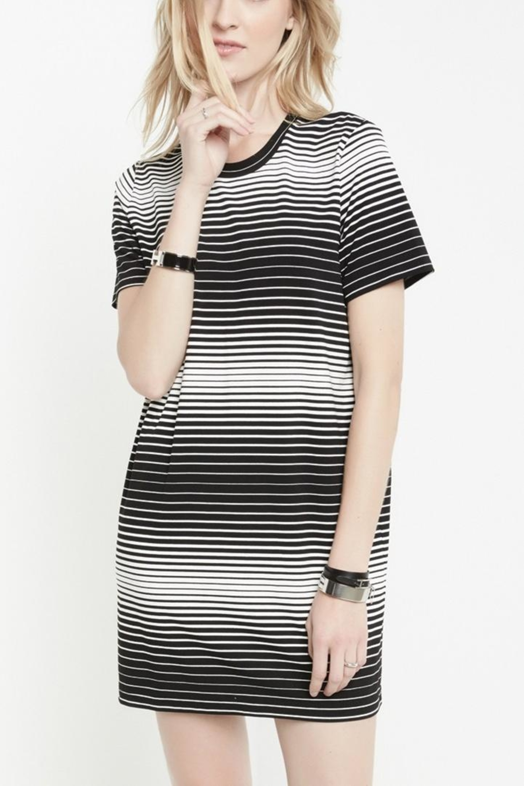 Fifteen Twenty Stripe T-Shirt Dress - Front Cropped Image