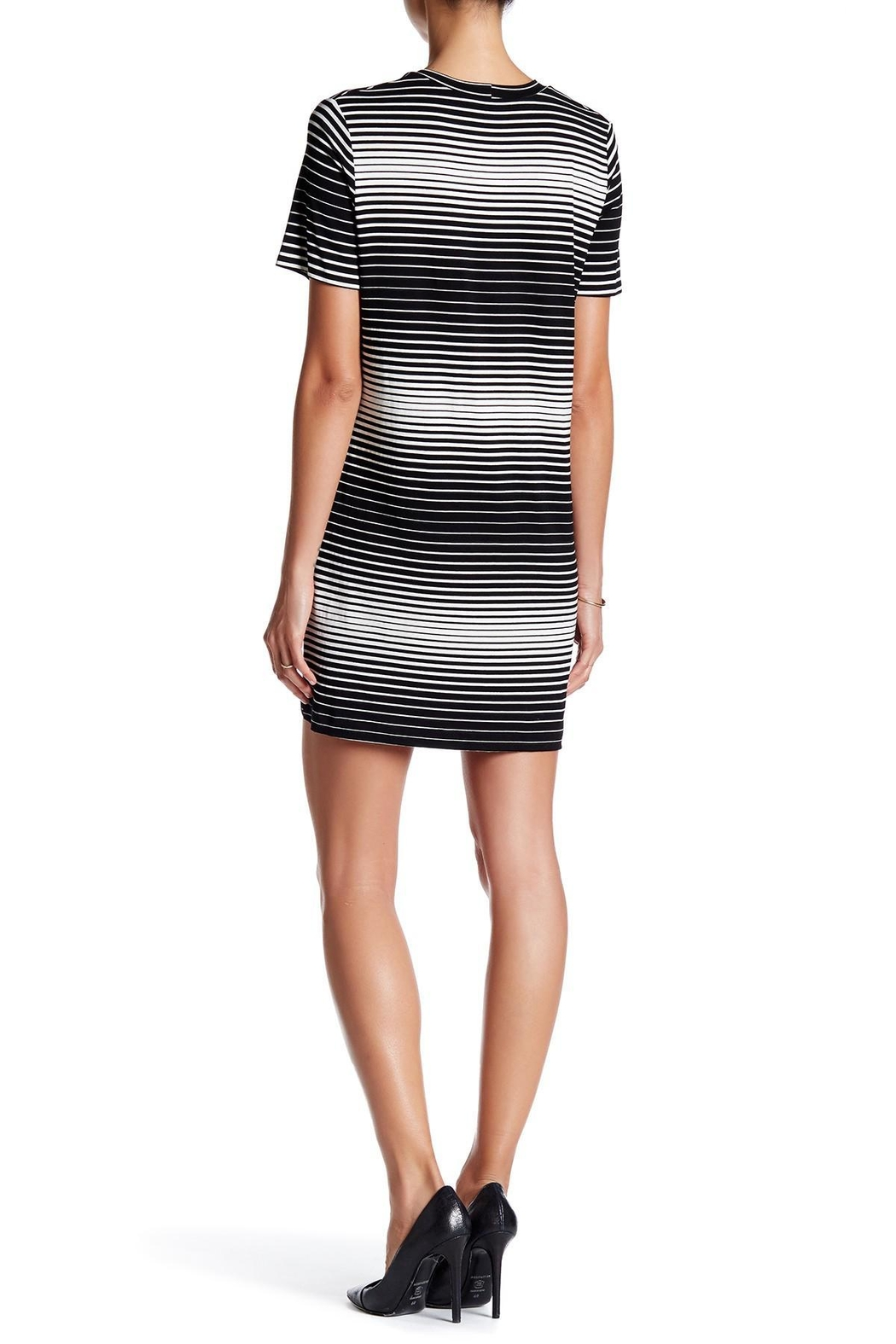 Fifteen Twenty Stripe T-Shirt Dress - Front Full Image