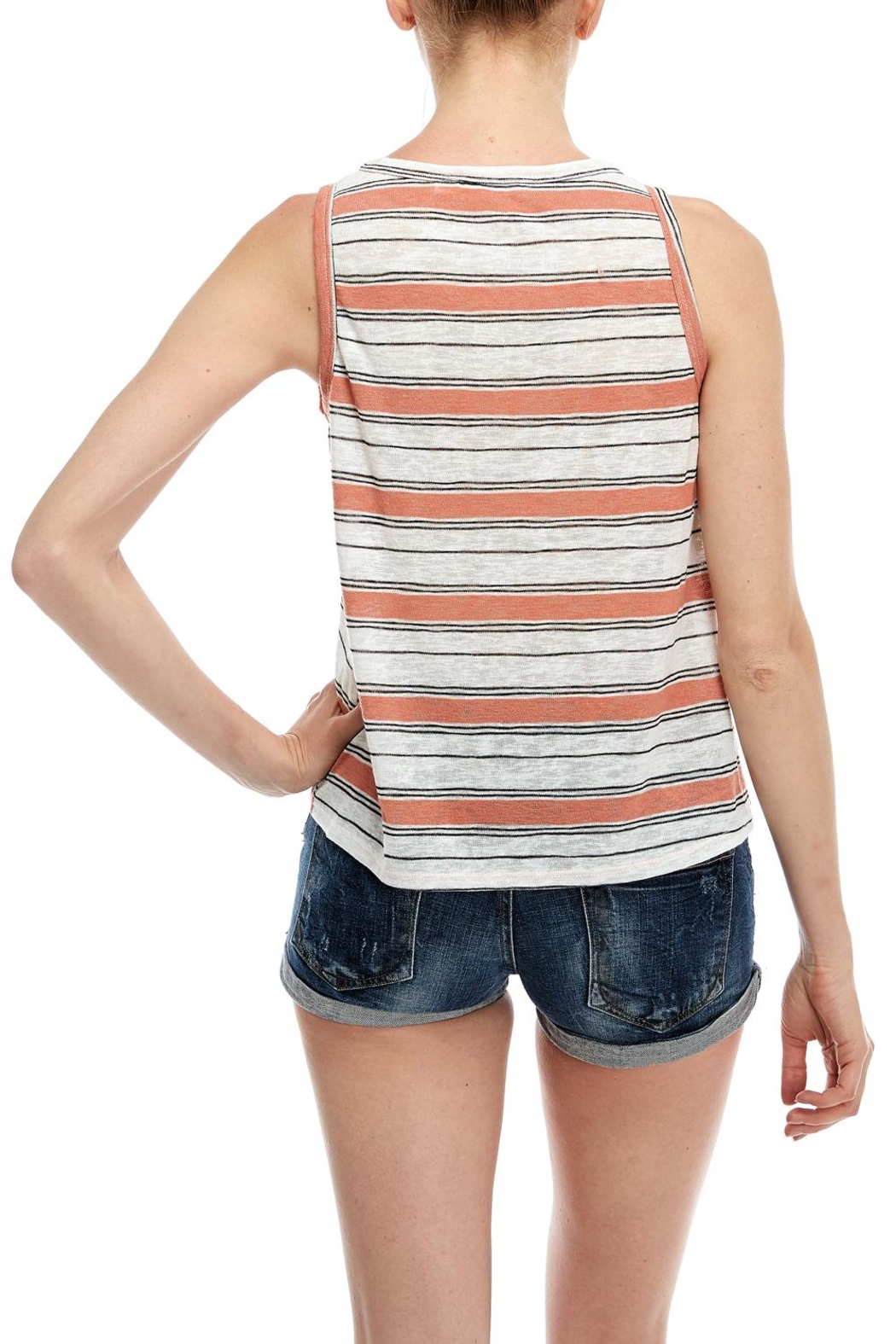 All In Favor Stripe Tank Top - Side Cropped Image