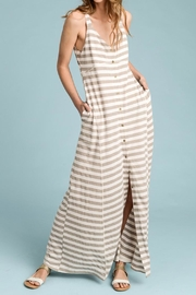 Doe & Rae Stripe Taupe Maxi - Front full body