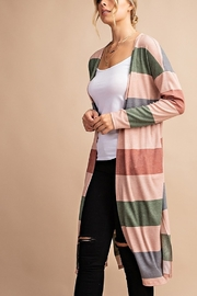 Lyn-Maree's  Stripe Thermal Midi Cardi - Product Mini Image