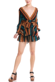luxxel Stripe Tie Dress - Product Mini Image