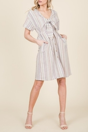 Lumiere Stripe Tie Front Dress - Product Mini Image