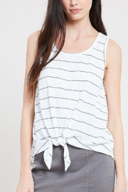 Wishlist Stripe Tie Front Tank - Product Mini Image