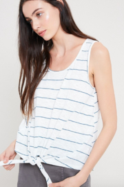 Wishlist Stripe Tie Front Tank - Front full body
