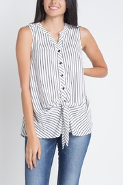 Allie Rose Stripe Tie Front Top - Product Mini Image