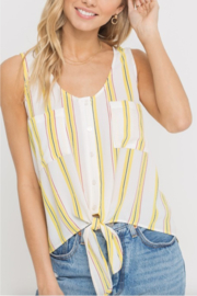 Lush Clothing  Stripe Tie Front Top - Product Mini Image