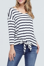 Papermoon Stripe Tie Front Top - Product Mini Image