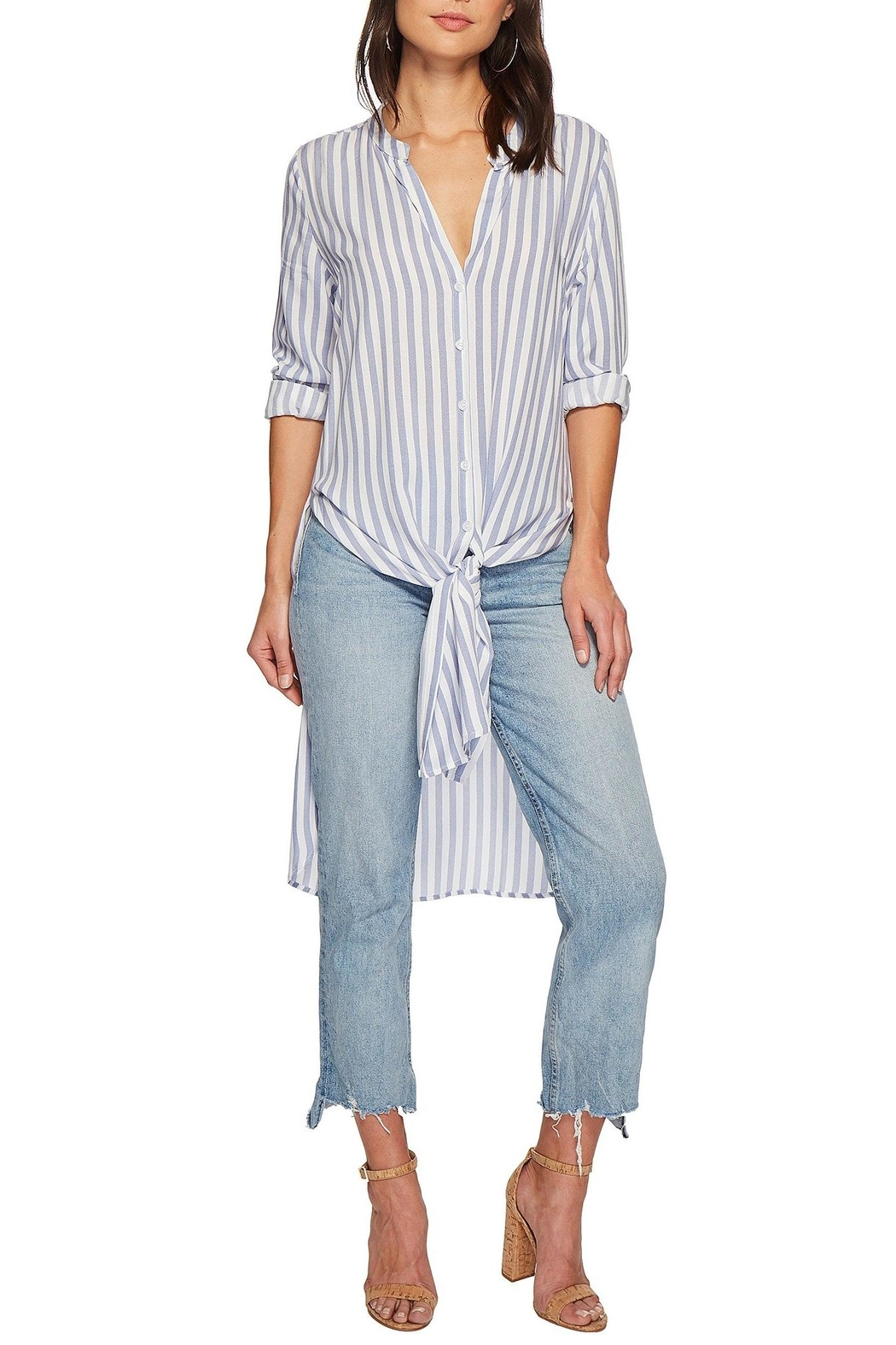 Bishop + Young Stripe Tie-Front Tunic - Main Image