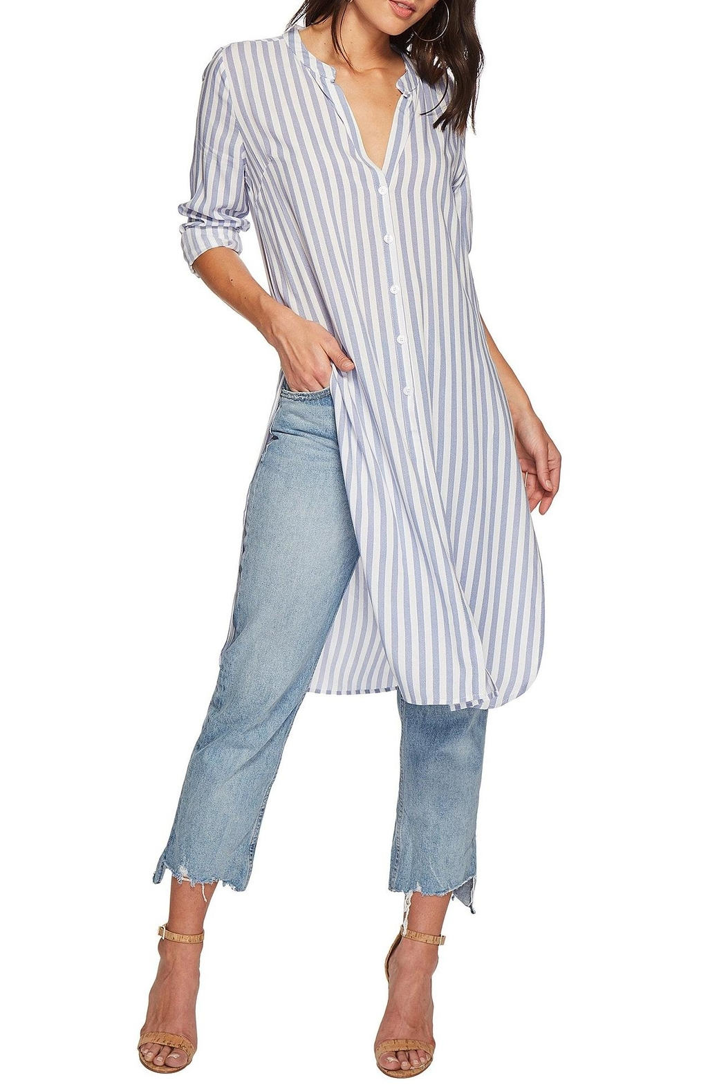 Bishop + Young Stripe Tie-Front Tunic - Front Full Image