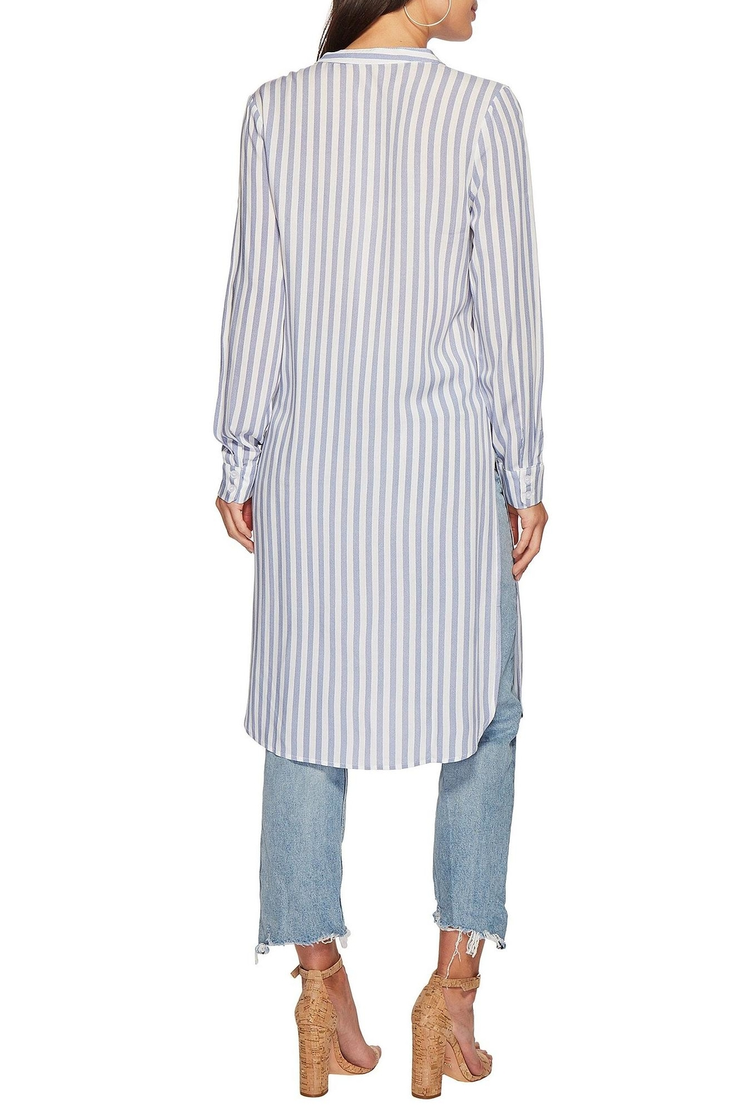 Bishop + Young Stripe Tie-Front Tunic - Side Cropped Image