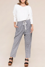 Polagram Stripe Tie Pants - Product Mini Image