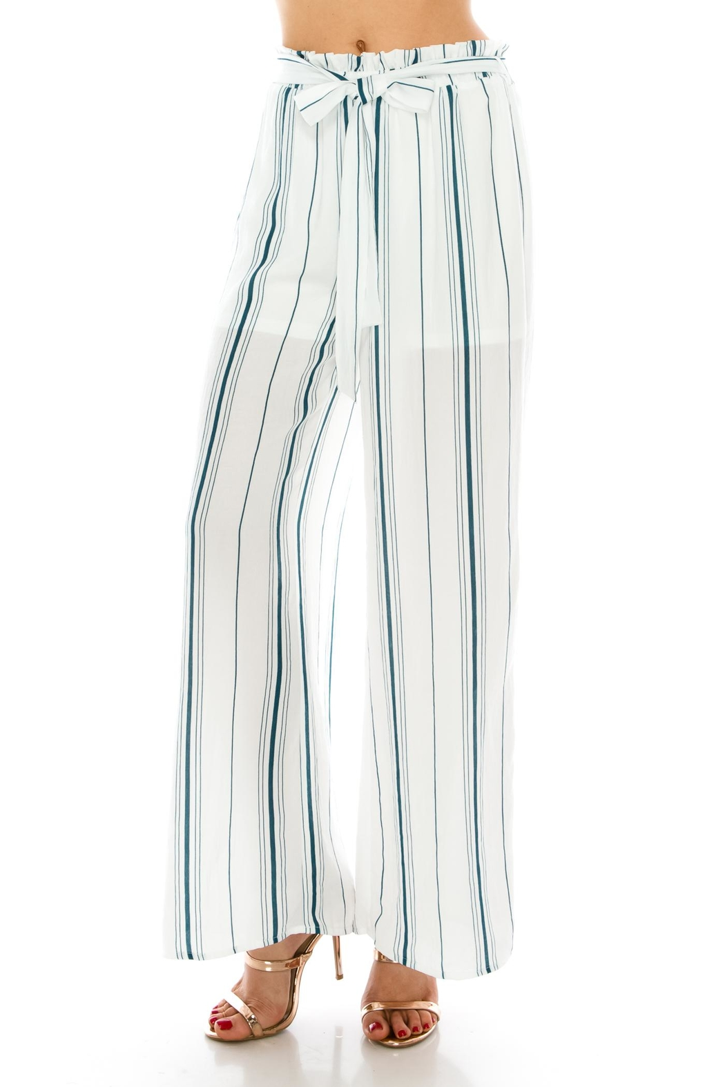 Favlux Stripe Tie Pants - Main Image