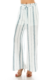 Favlux Stripe Tie Pants - Front cropped