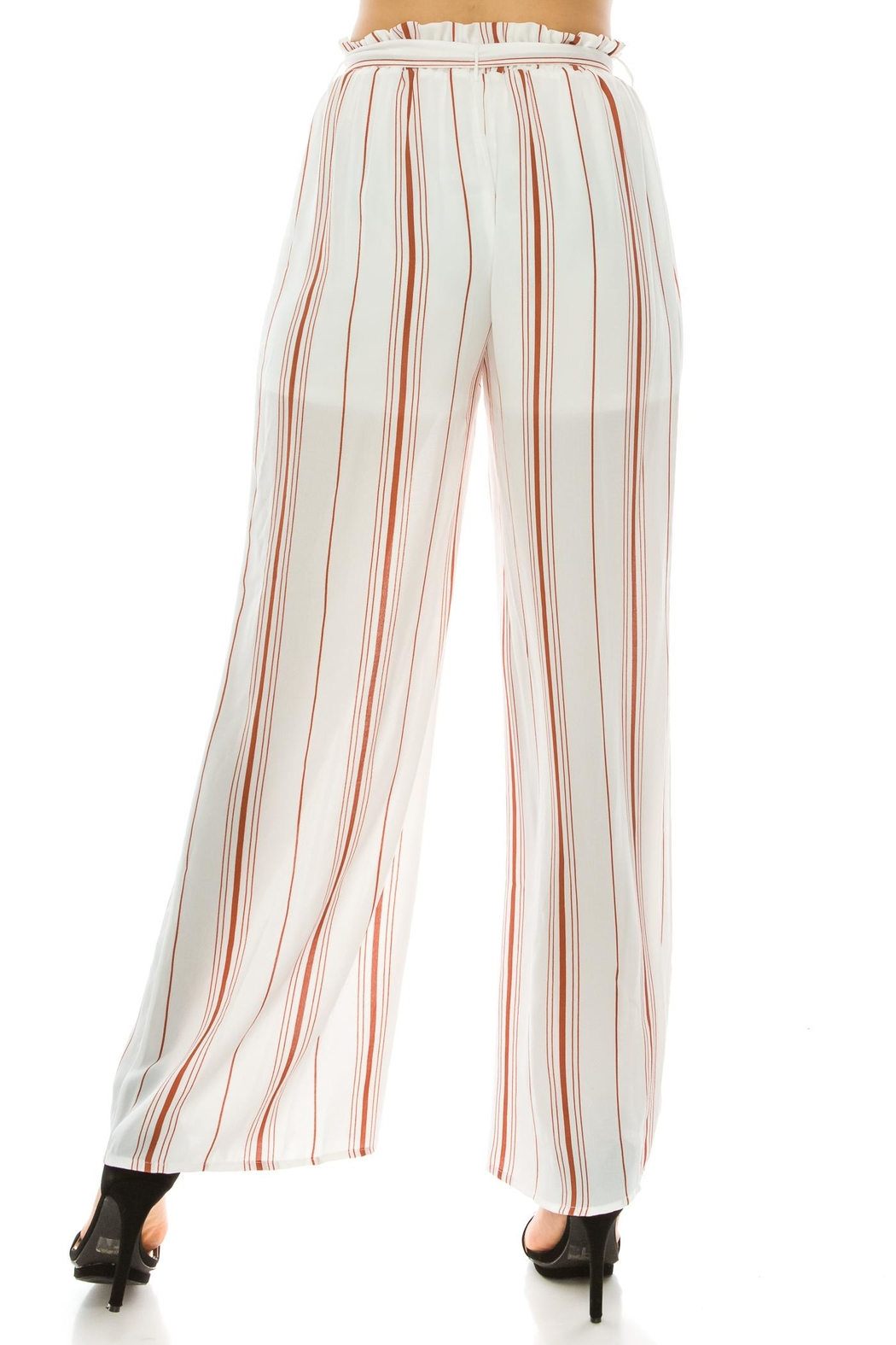 Favlux Stripe Tie Pants - Side Cropped Image