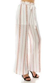 Favlux Stripe Tie Pants - Front full body