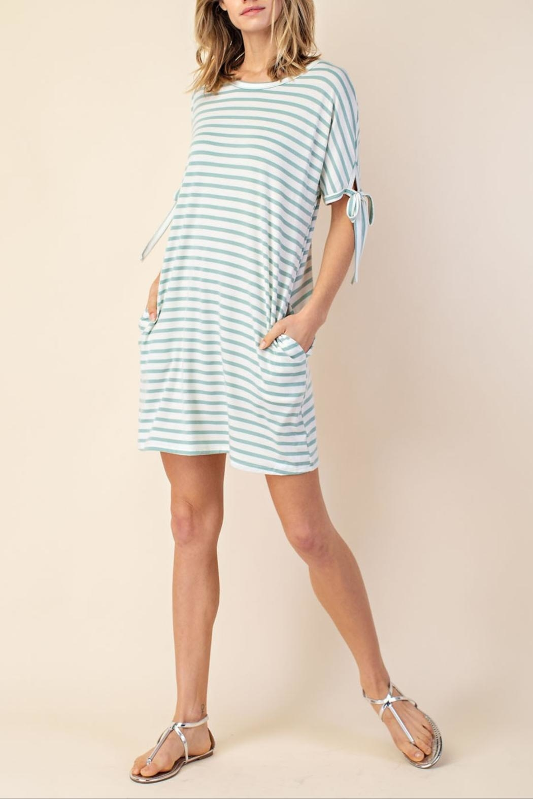 Mittoshop Stripe Tie-Sleeve Dress - Main Image