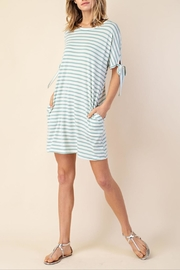 Mittoshop Stripe Tie-Sleeve Dress - Front cropped