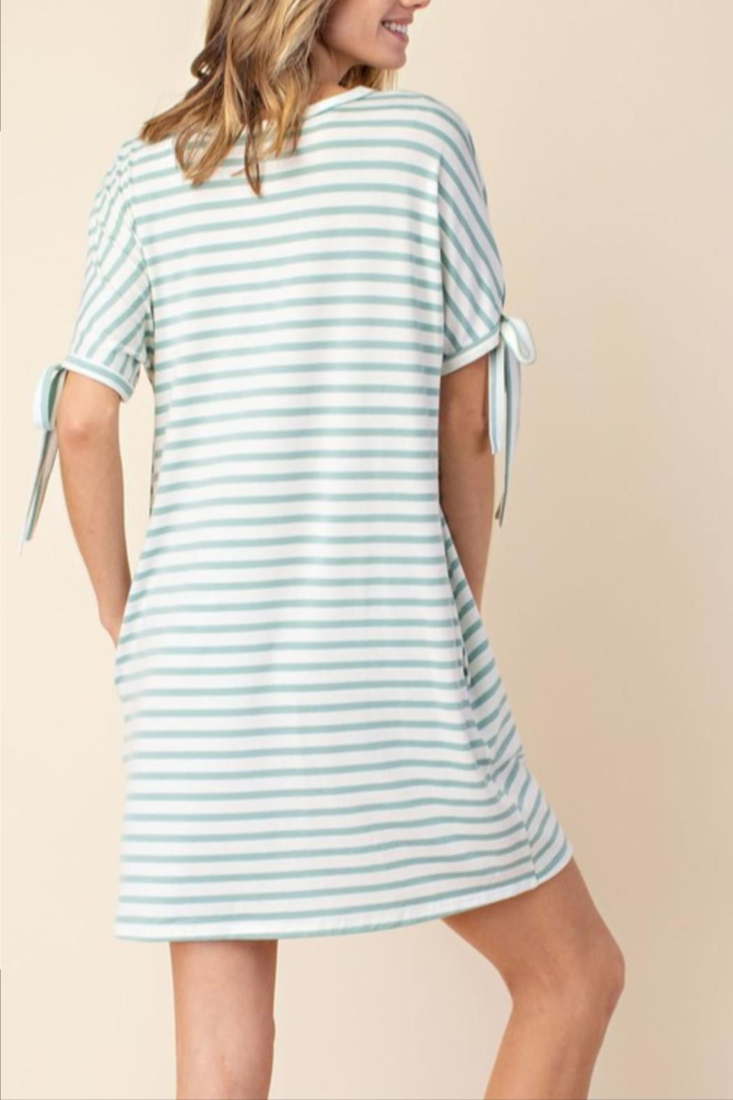 Mittoshop Stripe Tie-Sleeve Dress - Side Cropped Image